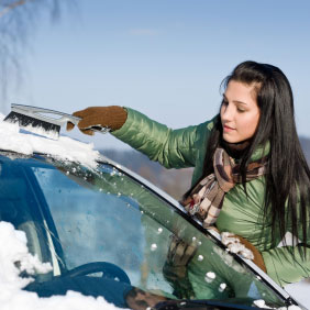 Clear the snow off your car.