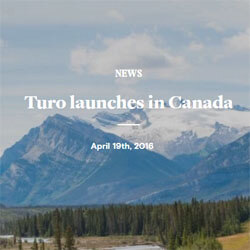 The Sharing Economy Grows with Turo's Entrance into Canada